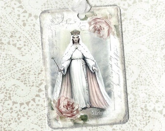 Tags, Religious, Gift Tags, Holy Cards, Religious Tags
