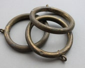 Antique French Chateau Bronze Curtain Rings / Architectural Home Decor Supplies