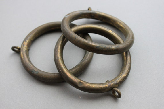 antique chateau bronze curtain rings architectural