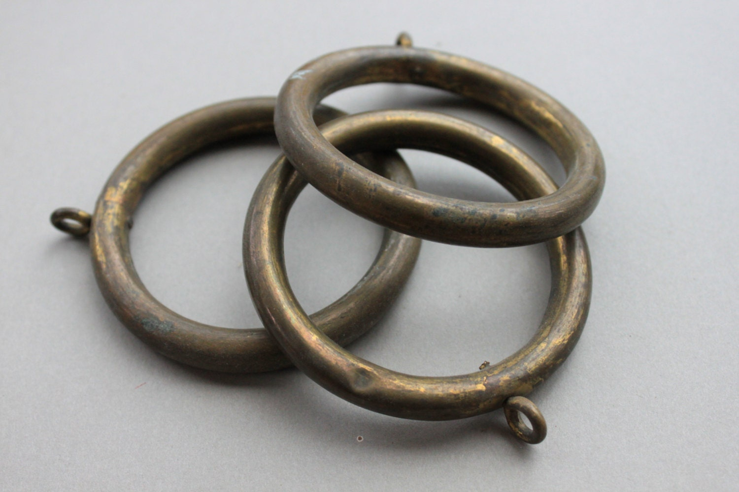 Antique French Chateau Bronze Curtain Rings Architectural