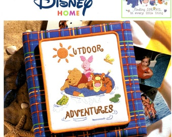 Disney Home Collection Seasons of Fun with Pooh Tigger Piglet Eeyore Counted Cross Stitch Embroidery Craft Pattern Leaflet Leisure Arts 3460