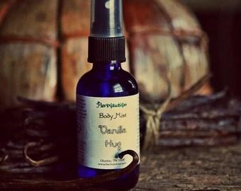 Vanilla Hug Body Spray Refreshener Natural Botanical Fragrance Vegan