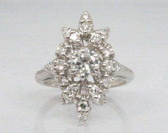 Vintage Diamond Cocktail Ring - 0.47 Carats - Petite size 2.5