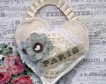 Paris Shabby Chic Heart Decoration