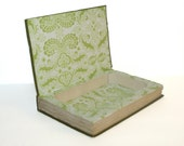 Hollow Book Safe Variety Papers Cloth Bound vintage Secret Compartment Keepsake Box Hidden Security Box