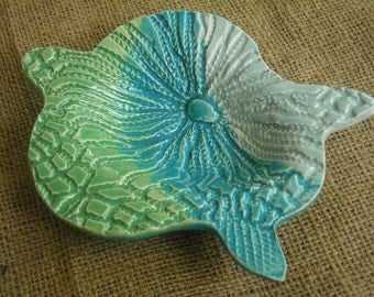 Turtle Bowl - Beach Tableware - Turtle Candy Dish or Soap Dish