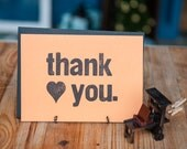 Thank You - Letterpress Card