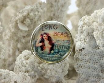 Long Beach Mermaid Adjustable Ring