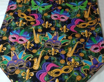 Mardi Gras Table Runner. Beautiful and Bright!!  72x14 Reversible and Handmade