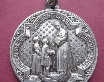 Antique Our Lady Of La Salette Religious Medal Visitation Of The Virgin Mary 1846 Signed Penin   SS250
