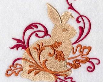 FILIGREE RABBIT- Machine Embroidered Quilt Blocks (AzEB)