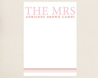 The Mrs. Note Cards