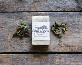 Peppermint // small bar // handmade soap // organic ingredients // cold process soap // artisan soap // small batch // lightly scented