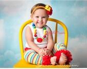 Baby BLOOMER, chunky bead NECKLACE , Leg Warmer and Headband Set- Baby Ruffle Bum Baby Bloomer Diaper Cover , cake smask, first birthda