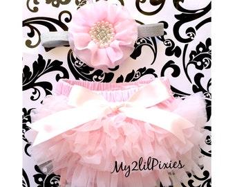 Baby Ruffle Bloomer and Headband, Bloomers, Ruffle bloomers, Newborn Bloomers. Diaper cover, Baby Set, Baby girl bloomers headband