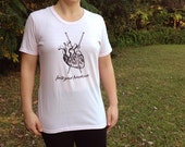 Knit Your Heart Out Original Design Knitting Tee Shirt Ladies