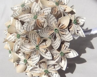 Custom Bouquet ~ Paper Flower Bouquet ~ Origami Flower Bouquet ~ Custom Bridal Bouquet ~ Bridesmaid Bouquet ~ Alternative Wedding Bouquets