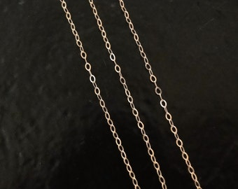 15 Feet - Rose Gold Filled Cable Chain - Custom Lengths Available