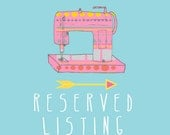 RESERVED listing especially for elise ciarlo