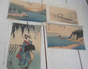 Vintage Woodblock Print Matsumoto Japanese