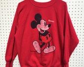 Vintage Mickey Mouse Hawaii Sweatshirt (Size: No tag, Fits like Adult Medium)
