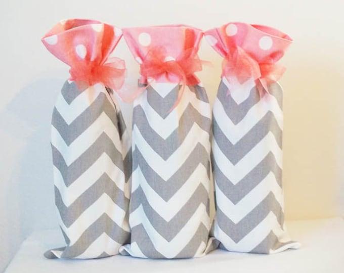 Wedding Wine Bags, Preppy Wedding Decor, Beach Wedding Decor, Set of 3, Hostess Gift, Wine Bag, Wine Sack, Wine Lover Gift, Grad Gift