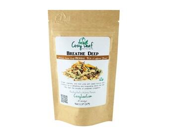 Breathe Deep Artisan Organic Herbal Loose Leaf Tea by Cozy Leaf