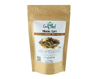 Mood Lifter Organic Artisan Loose Leaf Tea by Cozy Leaf