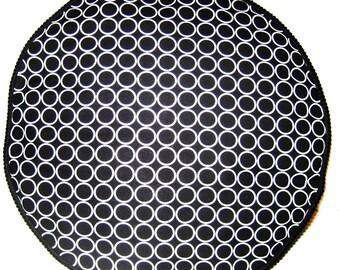 Circles Foot Rest Footstool Floor Cushion Pouffe