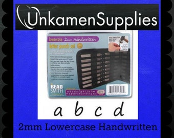Best Letter Punch Set - 2mm Lower Case Handwritten - Stamping Disc Sample Included
