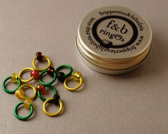 ringOs Sunflower - Snag-Free Ring Stitch Markers for Knitting
