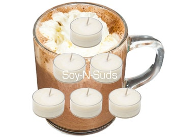 HOT COCOA Scented Soy Tea Light Candles