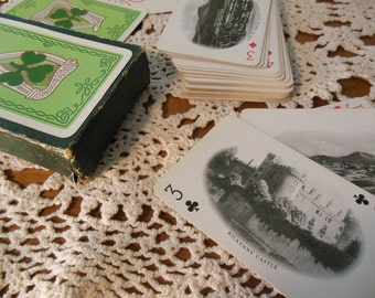 Vintage Deck of Irish Playing Cards--Each with Scenes of Ireland