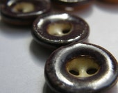 small purple ceramic buttons