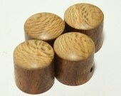 Set of 4 Rosewood Guitar Knobs with Sycamore Cap (3/4 inch dia x 3/4 height)