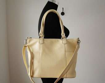 Leather shoulder bag, leather purse - Jay - made to order