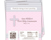 10 First Holy Communion candy wrappers/Communion Candy Wrappers/Hershey Candy Bar Wrappers