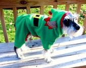 Elf Pajamas Dog Elf Costume Hooded Pajamas