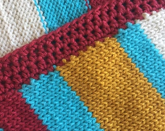 Baby Blanket Knitted Cotton (TravelSsize) - Fun Day