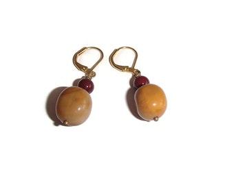 Mookaite Earrings. Classic Style Earrings