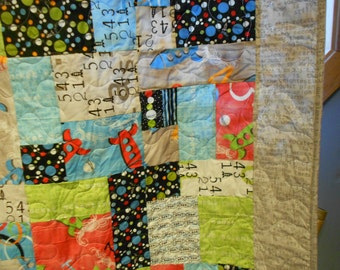 Twin Size Bed Quilt  Space ships 7