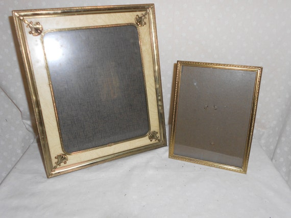 gold tone picture frames 10 x 12 and 8 x 6 set of 2. Black Bedroom Furniture Sets. Home Design Ideas