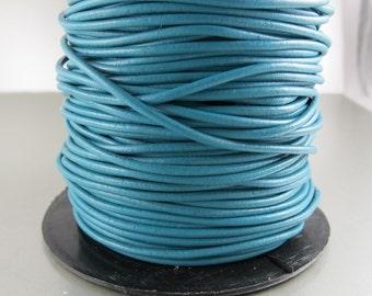 Premium Greek Leather Cord, SKY BLUE, 1.9mm, 2 yards (6 feet)