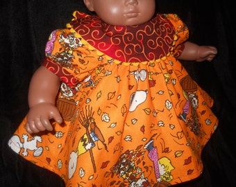 American Girl Bitty Baby Dolls Peanuts Gang Snoopy Charlie Brown Lucy Fall Dress and Panties