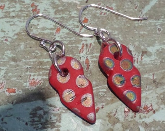 Red hand crafted Earrings