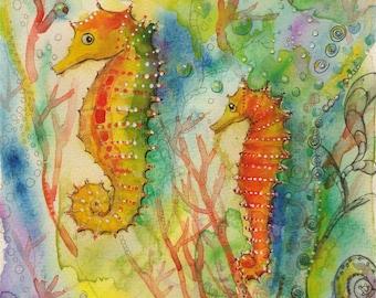 SEA HORSE,  print from my original artwork