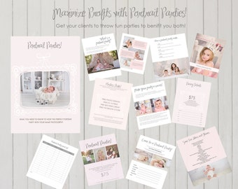 INSTANT DOWNLOAD - Photographer Photo Portrait Photography Party Marketing Template 12 pc. Kit 50% OFF! Regularly 49.95