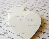 """54 Hearts Tags Size 3"""" -Paper Heart Die cuts -Paper Die cuts -Cardstock Tags -Paper Labels -Cardstock Die cuts -Custom paper Tags"""