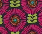 1 yard - Fringe Flowers in Magenda,  Michael Miller fabrics