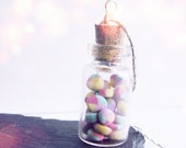 Handmade Polymer Clay Sweetie Jar Necklace - Mini Fruit Pastilles